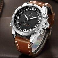 New Men Big Dial LED Digital Quartz Watch Alarm Dual Display Wristwatches Relogio Masculino Waterproof Fashion Sport Watches