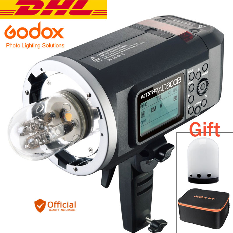 купить Free DHL Godox Wistro AD600B TTL Powerful Outdoor Flashlight 2.4G X System 8700mAh for Canon 6d 70d Nikon d800 d810 Sony a7r II по цене 57049.9 рублей