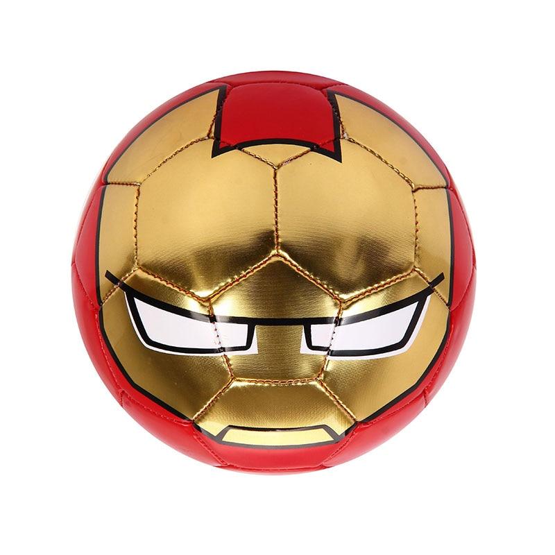 DISNEY Iron Man Football Ball Children Kids Cartoon 15cm PVC Official Size 2 Raining Outdoor Sports Soccer Ball Equipment