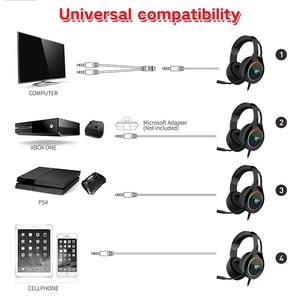 Image 2 - Игровая гарнитура HAVIT для ПК, проводная гарнитура USB 3,5 мм для XBOX / PS4 с 50 миллиметровым драйвером, объемным звуком и HD микрофоном для компьютера и ноутбука