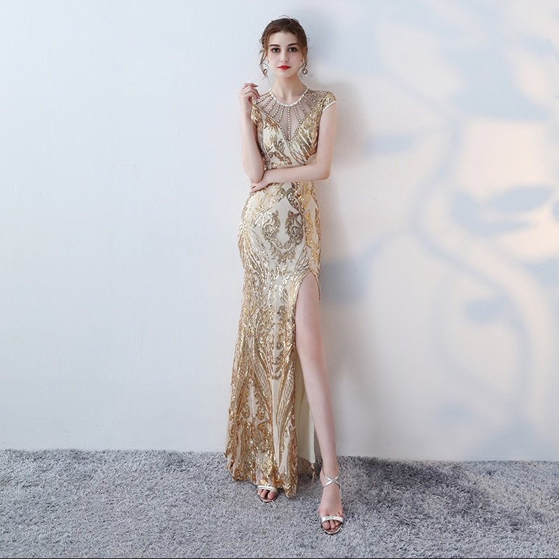 Robe de soiree sequin