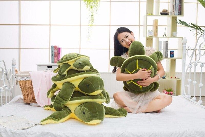 huge size 40cm 50cm 60cm plush tortoise toy cute turtle plush pillow stuffed turtle pillow cushion for girls gift kids toys
