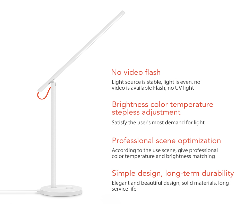 Xiaomi Mijia Mi Smart LED Desk Lamp Table Lamp Dimming Reading Light WiFi Enabled Work with AMZ Alexa IFTTT (2)