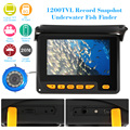 "KKmoon 1200TVL Record Snapshot  Underwater Fish Finder Kit 4.3"" LCD Monitor Waterproof Night View Camera 20M Cable + 8G TF Card"