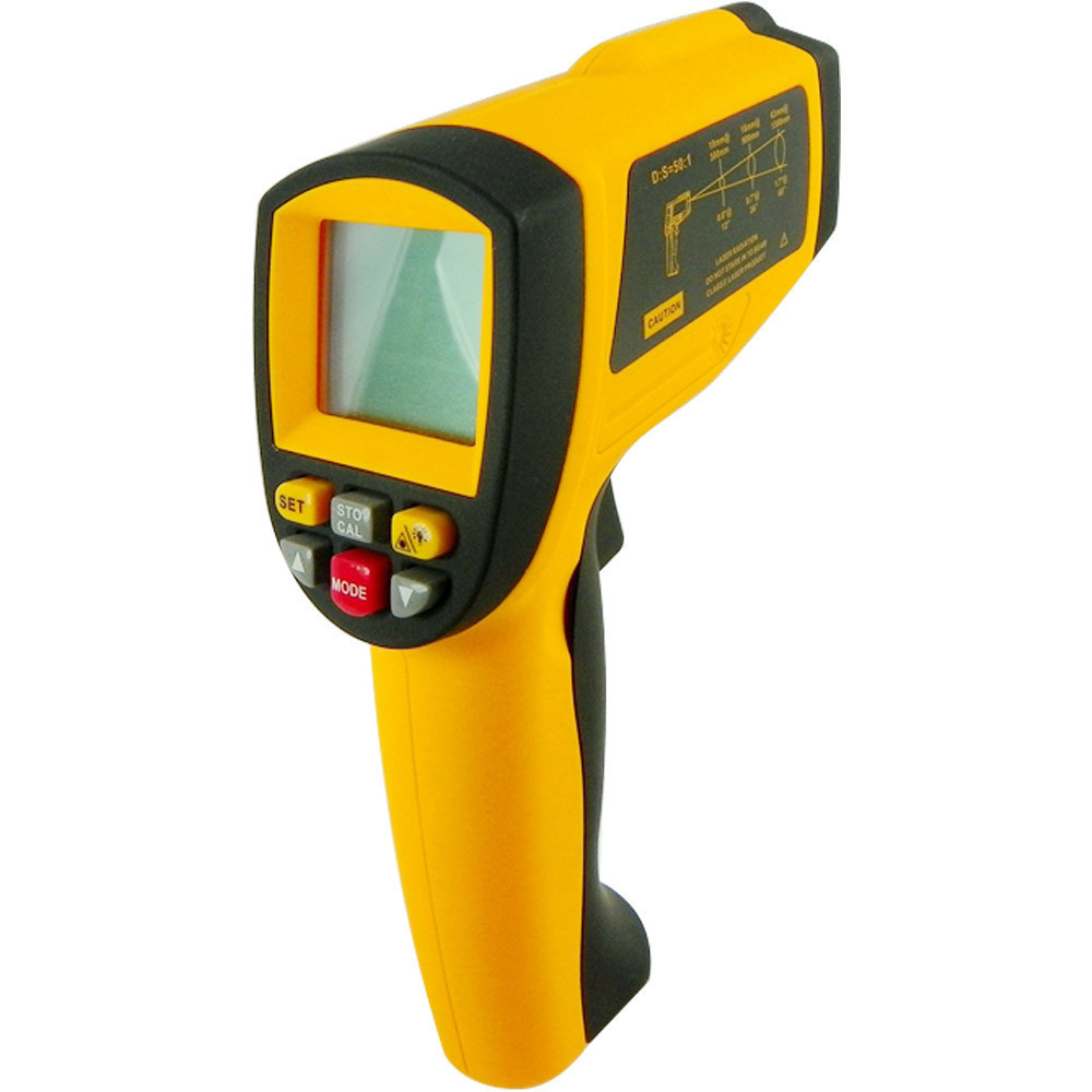 Professional Non Contact Laser Thermometer Pyrometer Laser Point Temperature GM1150A 18 1150 degree