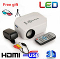 Hot selling !Full HD  Mini home cinema  1080P portable pico Projector  LED long life lamp  free shipping
