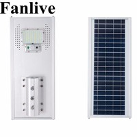 Fanlive 3 шт. 50 W 100 W 150 W Интегрированный отражатель светодиодный солнечной лампы мощный открытый водонепроницаемый уличный фонарь IP66 PIR Сенсор