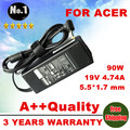 Wholesale new 19V 4.74A 5.5*1.7 Laptop  Adapter AC Charger Battery Power Supply  For Acer 4745 4560G 4935G 4736 4350G 4710G