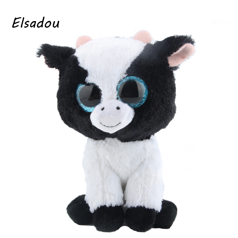 Elsadou Ty Beanie Boos Stuffed Plush Animals Cattle Doll font b Toys b font For Children