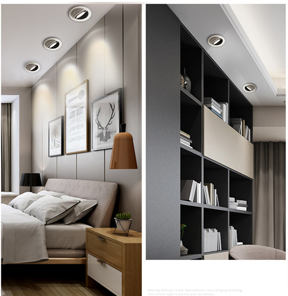 Dimmable Led Down light lamp COB Ceiling Light 5w 7w 10w 12w 85-265V recessed ceiling Spot Lights for kitchen bedroom home Decor