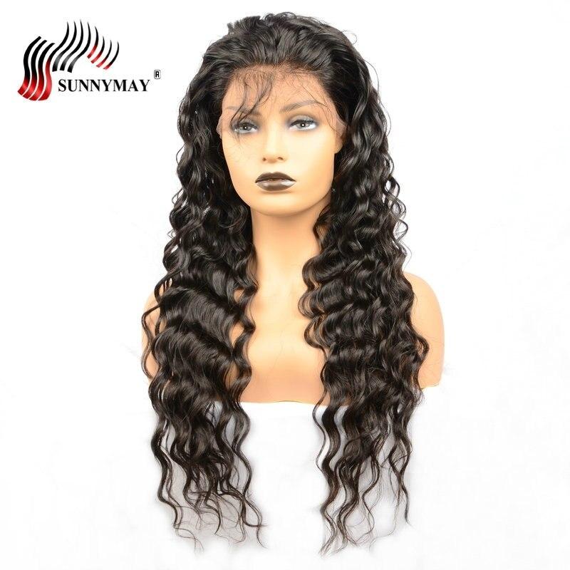 Sunnymay Loose Wave Lace Front Mänskliga Hårperor För Kvinnor Med - Mänskligt hår (svart) - Foto 4