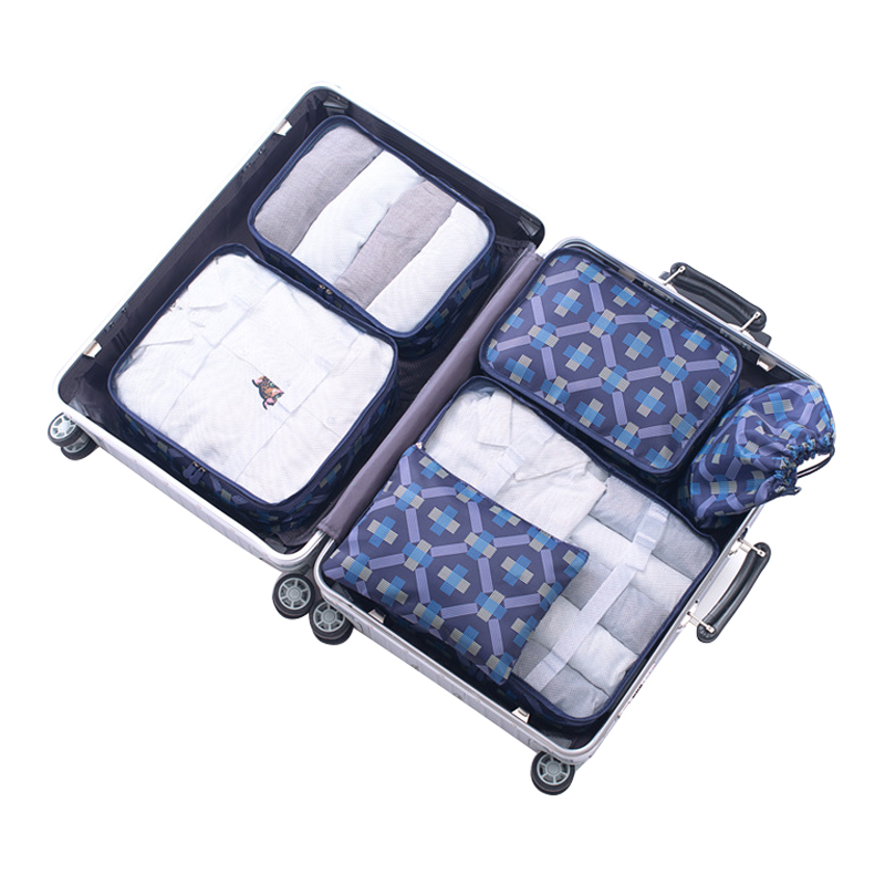6Pcs/set Women Luggage Accessories Portable Packing Cube s Clothing Sorting Organizer Case Travel Supplies Products ...