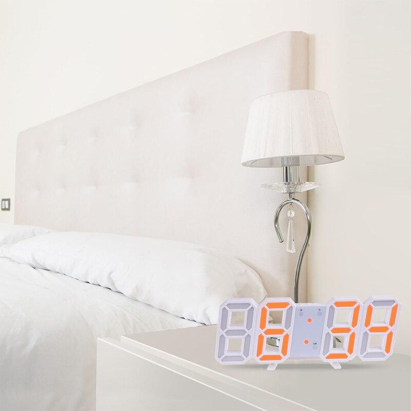 Anpro 3D Large LED Digital Wall Clock Date Time Celsius Nightlight Display Table Desktop Clocks Alarm Clock From Living Room 12
