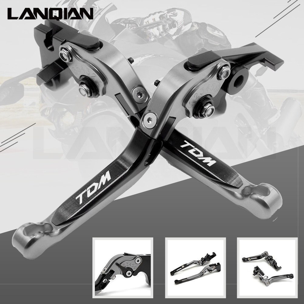 For YAMAHA TDM900 2012-2014 CNC Motorcycle Accessories Adjustable Folding Extendable Brake Clutch Lever TDM 900 With TDM LOGO 6 colors cnc adjustable motorcycle brake clutch levers for yamaha yzf r6 yzfr6 1999 2004 2005 2016 2017 logo yzf r6 lever