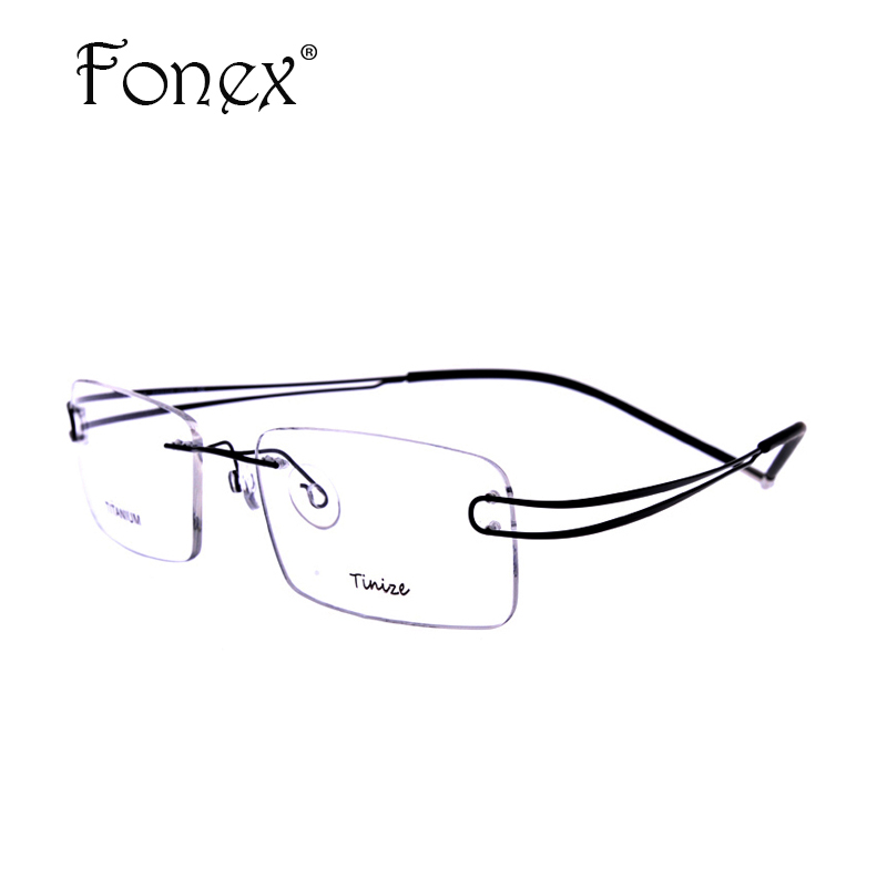 Rimless Glasses With High Prescription : 2017 Classic High Quality Men Rimless Glasses Memory ...