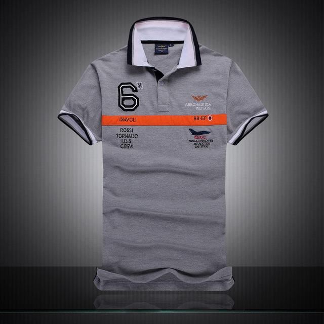 Polo Nuevo 2016 Famosa Marca Aeronautica Militare Hombres Camisas de Polo de la Marca de Algodón Camisa de Polo de Manga Corta de Calidad Superior
