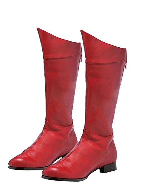 ФОТО Spring/Autumn Women Boots Flat Knee High Long Riding Boots Red Fashion Zip PU Leather Motorcycle Casual Boots