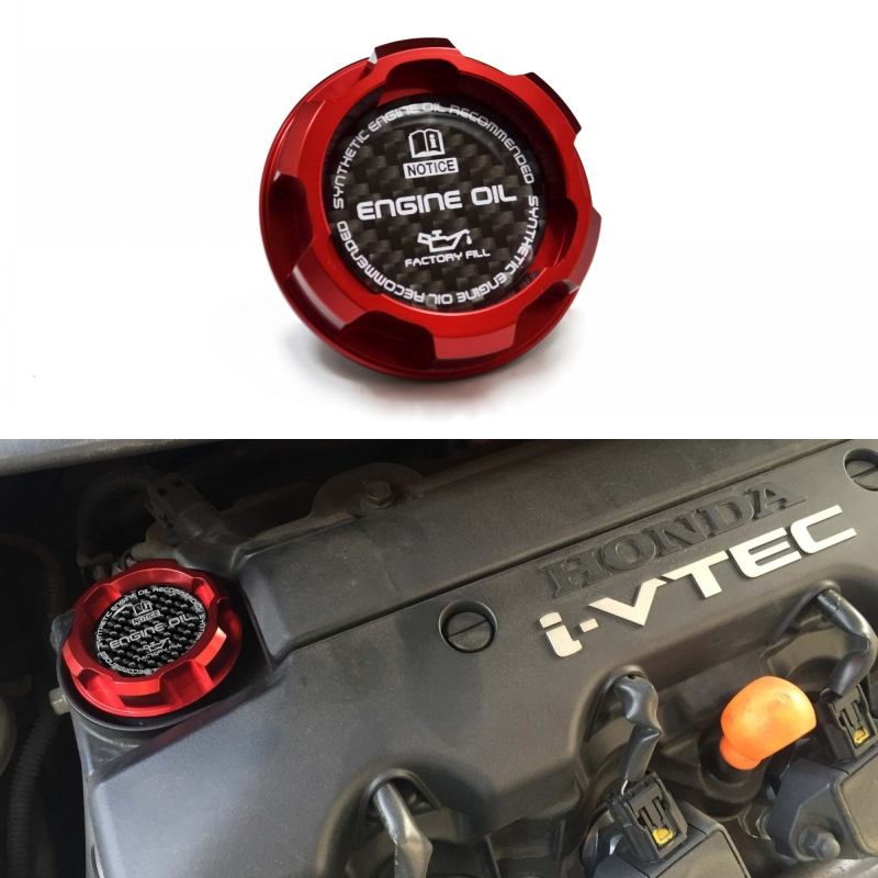 The New Red Aluminum ENGINE Oil Cap For SI Element ACURA