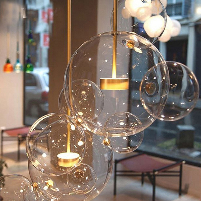 bubble lighting fixtures. Nordic Personality Bubble Ball Glass Pendant Lamp Hanging Light Designer Suspended Lighting Fixtures Living Room
