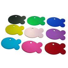 Set Aluminum ID Tags in Shape Fish for Cat