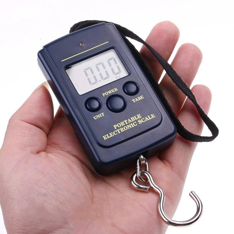 Urijk Freeship 40 kg Digital Attaccatura di Bilancia Mini Deposito Gancio Bilancia Retroilluminazione LCD Portatile Da Viaggio Elettronico Bilancia del Peso di Equilibrio