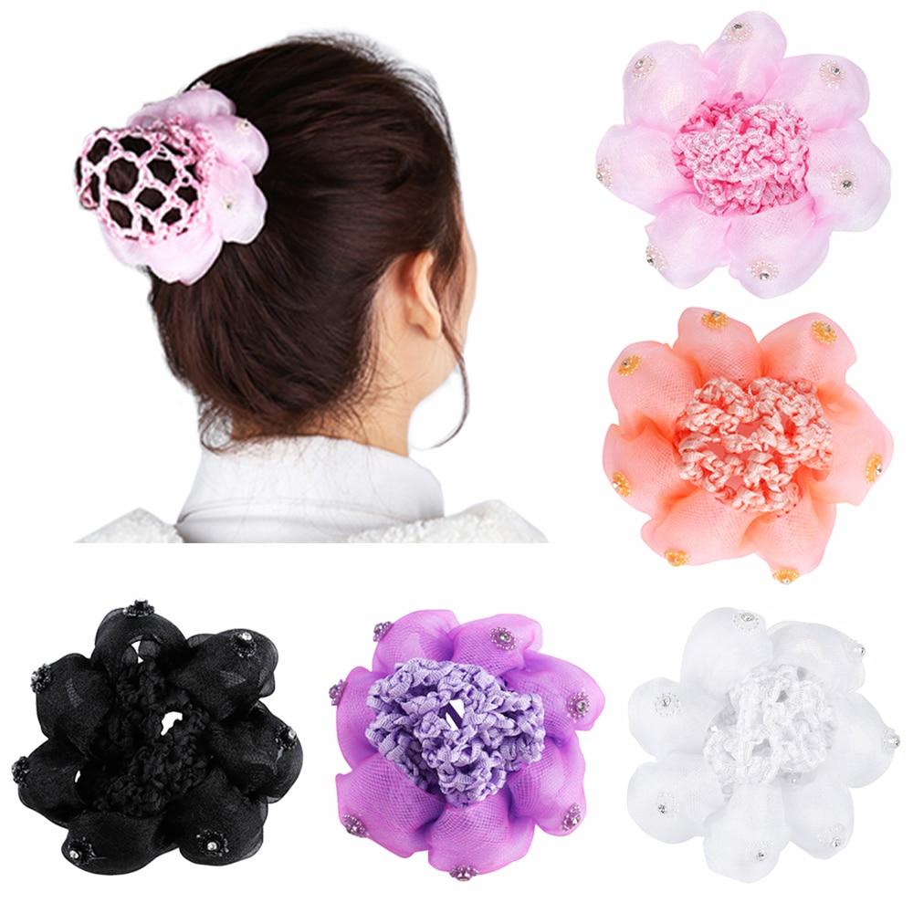 5bb7efbbcb46 1 pc Fashion Occupation Satin Elastic Hairbands Crochet Women kids ...