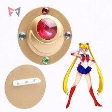 Athemis nowe kostiumy odznaka Sailor Moon Tsukino Usagi akcesoria Cosplay broszka przypinki błyszcząca biżuteria akrylowa