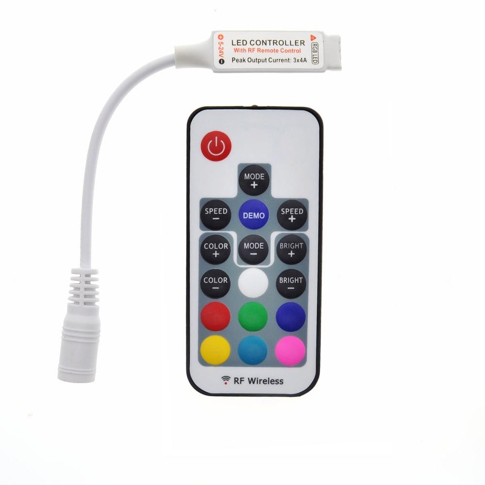 led rgb controler dc5 24v 17key rf wireless remote. Black Bedroom Furniture Sets. Home Design Ideas