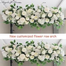 50/100CM DIY Hochzeit Blume Wand Anordnung Liefert Silk Pfingstrosen Rose Künstliche Blume Reihe Decor Hochzeit Eisen Arch hintergrund