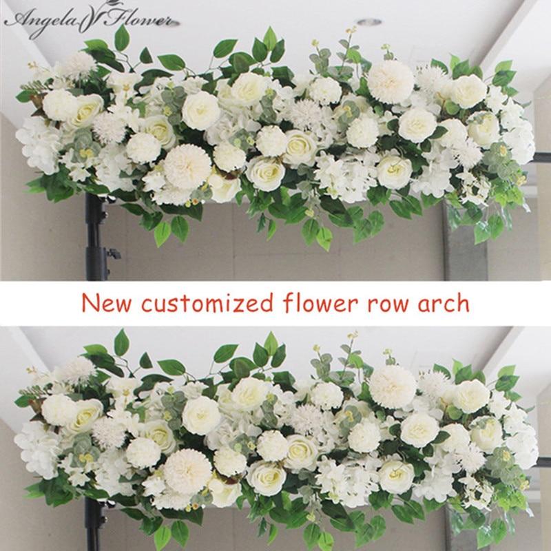 50/100cm DIY wedding flower wall arrangement supplies silk peonies rose artificial flower row decor wedding iron arch backdropArtificial & Dried Flowers   -