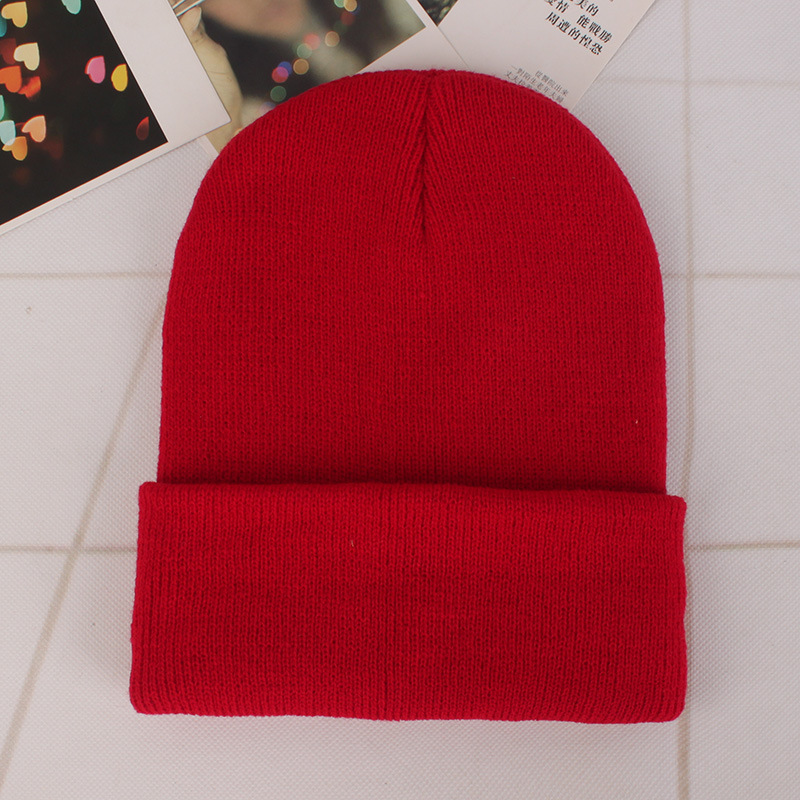 25 Solid Colors Woolen Knitted Beanie Hat Cap For Men Women Winter ... 300725ff94e