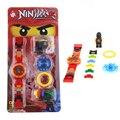 В Наличии 12 Новый Стиль Оригинальной коробке Ninja mini Super Hero Строительные Блоки Часы Кирпичи Совместимы LEPINES Игрушки Для Детей
