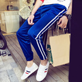 New 2016 spring double Striped Loose casual pants men Joggers men's pants cargo pants MQ10