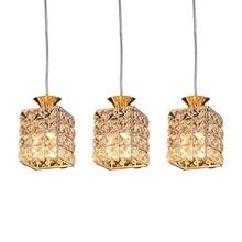Crystal Hanging Lights Dining Room Light Restaurant Kitchen Bar Shop Crystal Suspended Lamp Pendant Lighting For