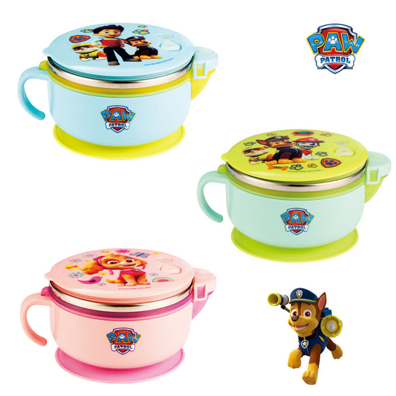 320/380ML Paw patrol Anime Figure Insulated bowl Genuine Paw Patrol Children kids gift 304 316 Stainless Steel Dinnerware toys|Lunch Boxes| |  - title=
