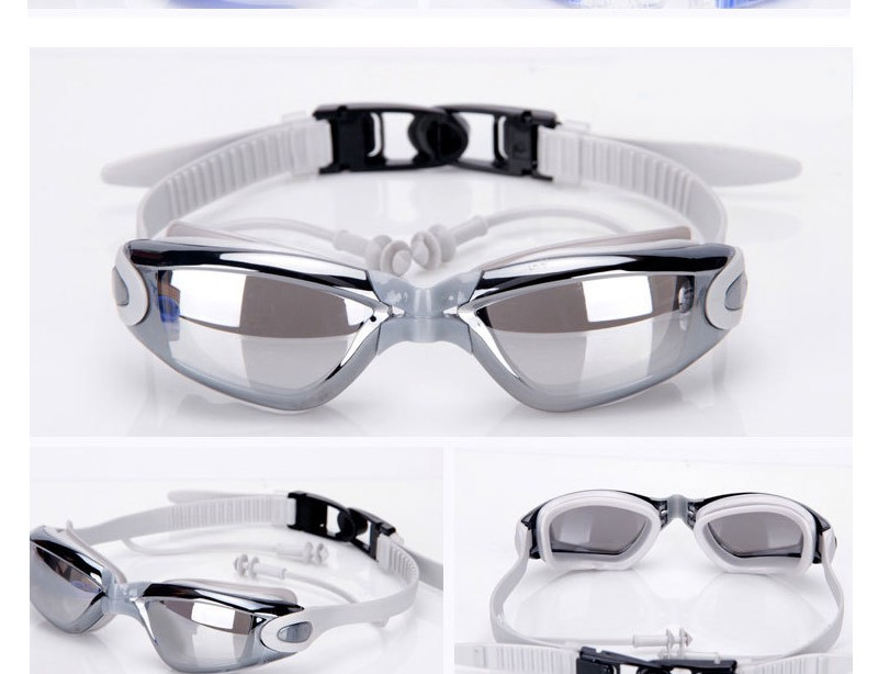 Silicone Professional Myopia Swimming Goggles With Earplug Anti Fog For Men And Women 3