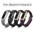 10mm silicon smart wristband strap replacement bracelet strap with staniless watch case for xiaomi mi 2 band strap Accessories