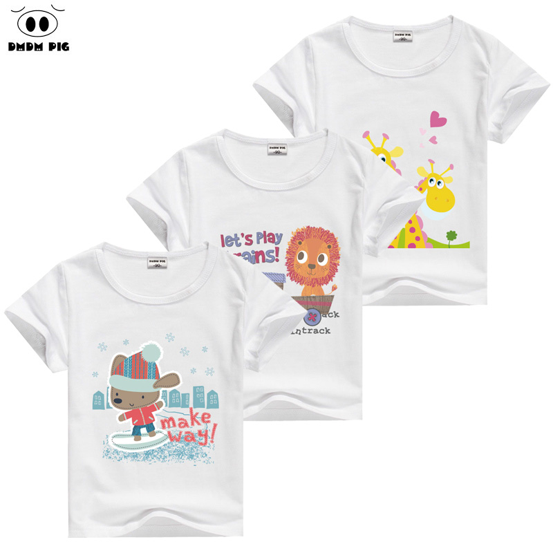 DMDM PIG 2017 Tiny Cotton Kids TShirt Summer Boys T-Shirts For Girls Tops Children Short Sleeves T Shirts Baby Girl Boy Clothes