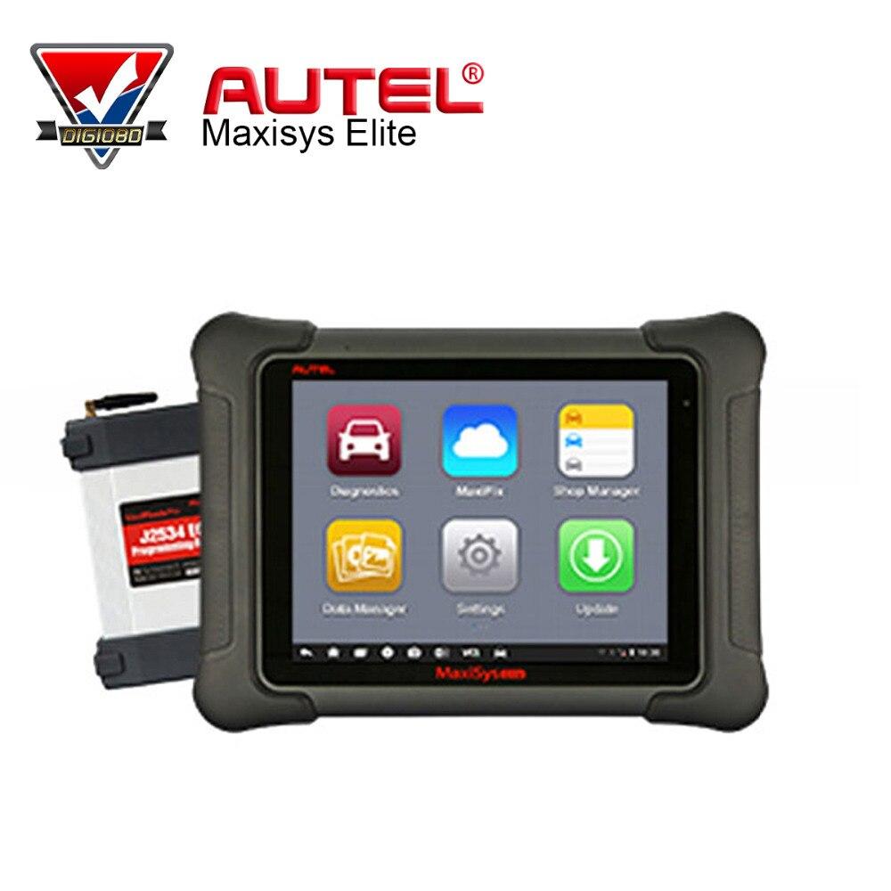 Цена за 100% первоначально Autel MaxiSys Elite Поддержка J2534 ЭБУ предпрограммировать Обновление от MS908P Pro Бесплатная инструмент диагностики