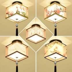 Nowy chiński styl chiński wiatr lampy sufitowe Led plafond lampa dla domu światła salon sufitowa oprawa oświetleniowa okrągła w Oświetlenie sufitowe od Lampy i oświetlenie na