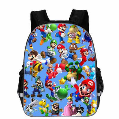 Children School Bags Cartoon Doll Super Mario Printing Backpacks Boys Girls Mario Bros Bag Birthdays  Gta 5 Kindergarten