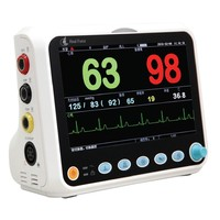 HealForce Multi Parameter PC 3000 Pro Patient Monitor for ECG Body temperature brath NIBP blood pressure SPO2 Pulse Rate Meter