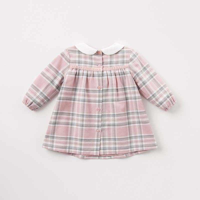 DBM7742 dave bella/осеннее модное клетчатое платье для маленьких девочек детское праздничное платье на день рождения Одежда для маленьких детей
