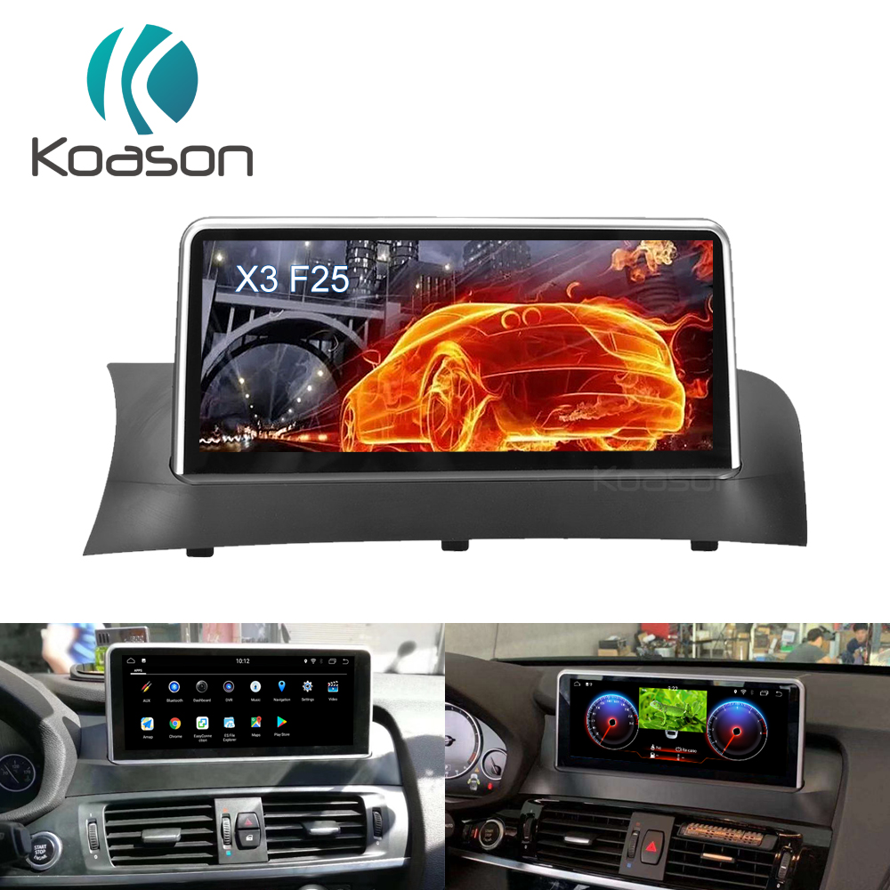 Koason 10 25 quot IPS HD Screen Android 8 1 GPS Navigation for BMW X3 F25 2011 2012 Car Audio Video Wifi BT Multimedia Player in Car Multimedia Player from Automobiles amp Motorcycles