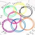 Большие серьги-кольца Kymyad в богемном стиле для женщин, 6 см, флуоресцентные цветные серьги, Модная бижутерия, крупные серьги, модные украшени...