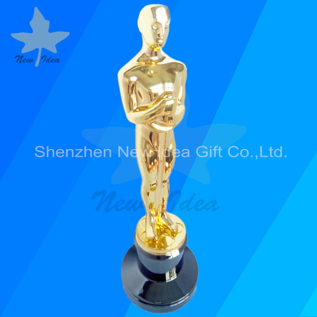 Real Gold Plated Perpetual Oscar Metal Trophy Awards Top Grade Quality In China For Oscar Trophy