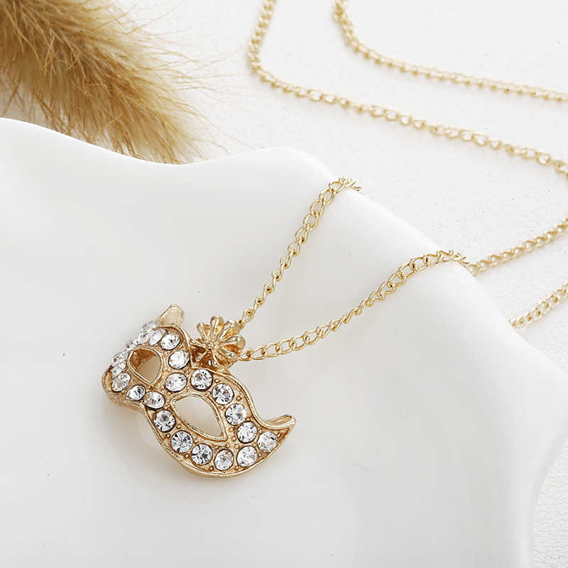 X76 Personality Austrian Crystal Jewelry Set For Women Gold/Silver Color Mark Style Necklace&Earrings Sets Parure Bijoux Femme