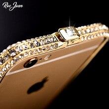 Фотография Slim Zinc Alloy Metal Diamond Bumper Coque Case For iPhone 6 6s 5 5S SE 7 Plus I Phone Luxury Brand Protective Cover Capinha