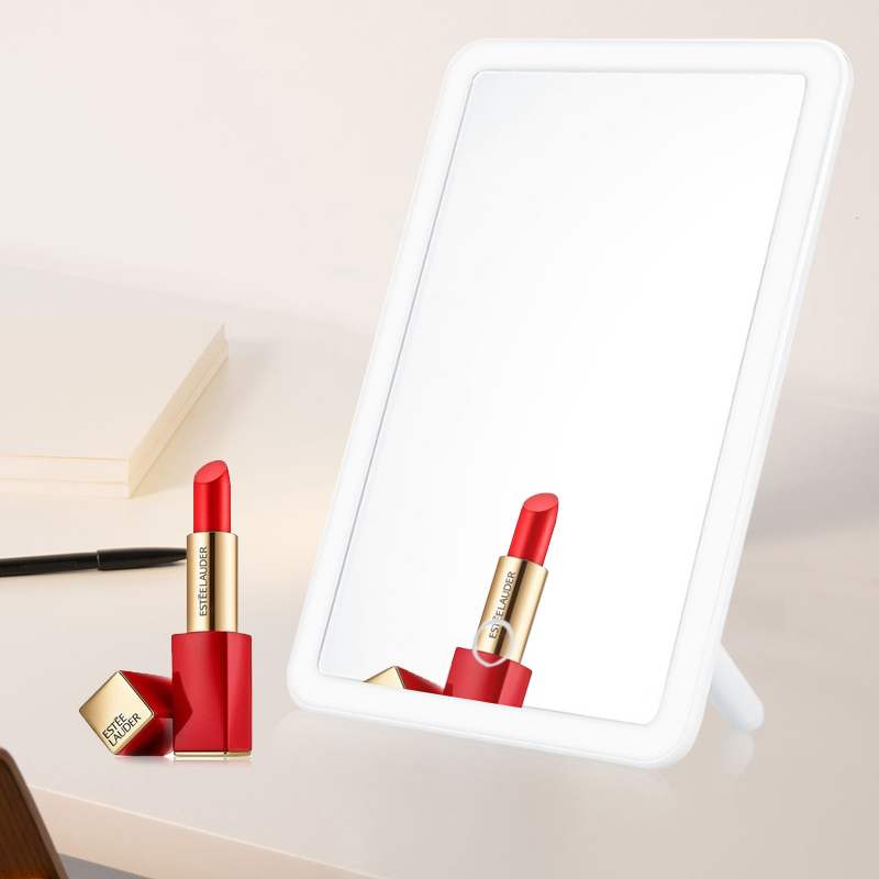 Touch Screen Makeup Mirror Lamp Portable USB Recharged Beauty Vanity Bathroom Livingroom Mirror With LED Light