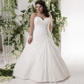 2017 New Lace Plus Size Wedding Dresses Charming A-line Sequins Beaded Floor-length Custom Make Bridal Dress